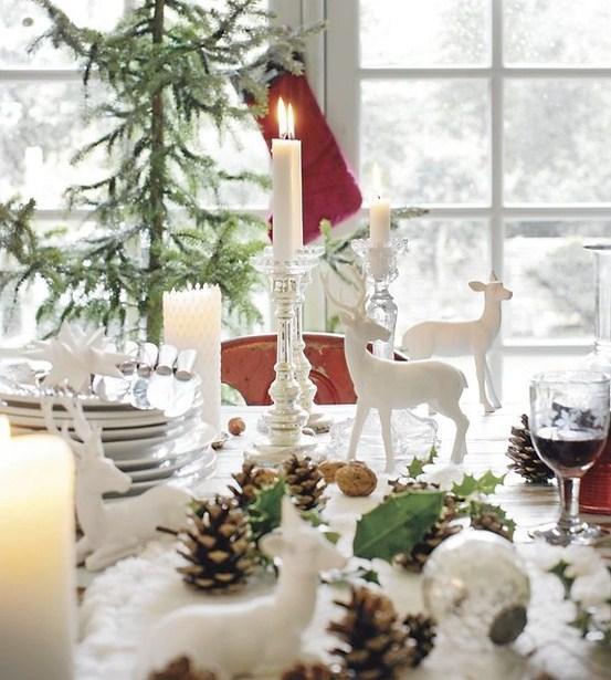 Una tavola decorata da ricordare - Addobbi natalizi per tavola da pranzo ...