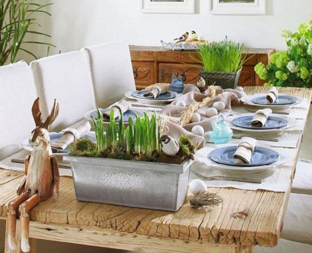Una tavola in puro stile country chic