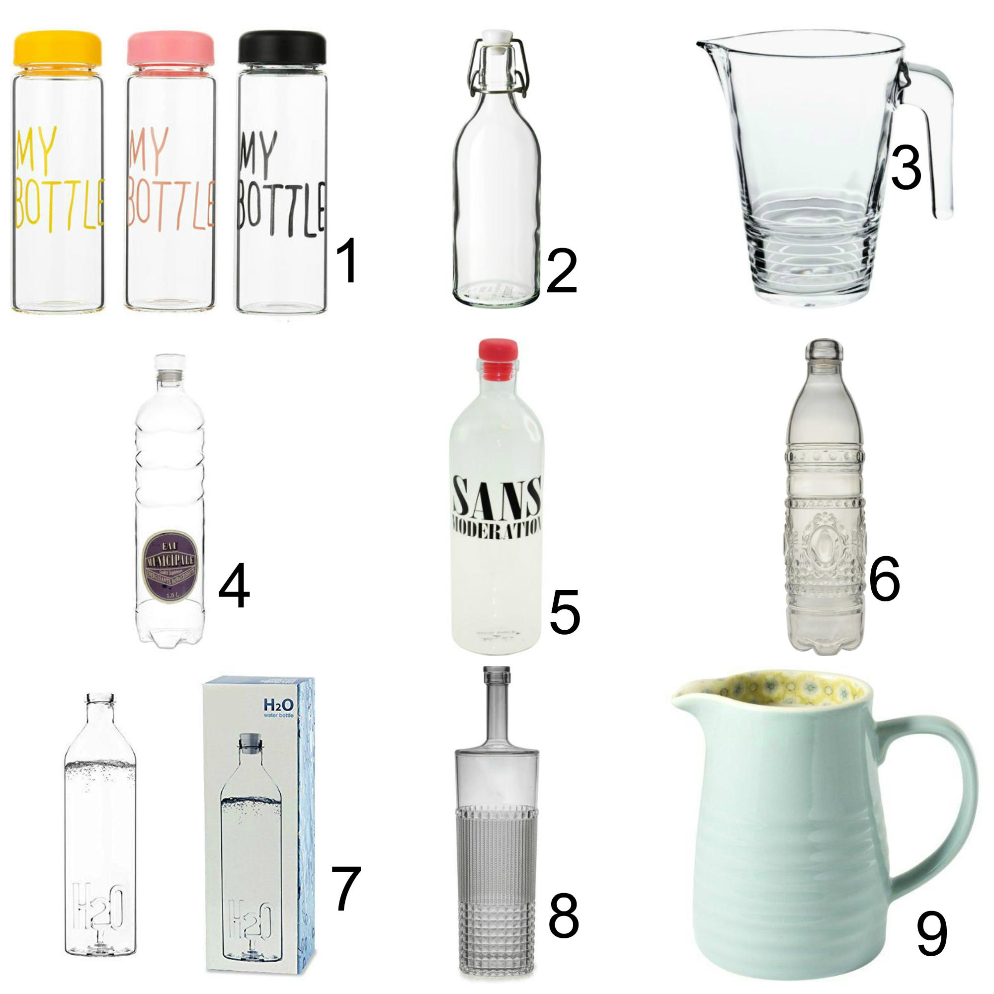 Bere acqua fa bene ed anche bello cuochi cucine - Bottiglie vetro ikea ...